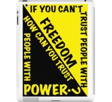 Power and Freedom iPad Case/Skin