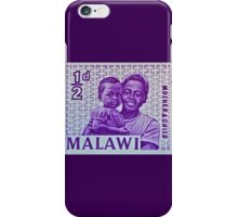 """""""1964 Malawi Mother & Child Stamp"""" iPhone Case/Skin"""