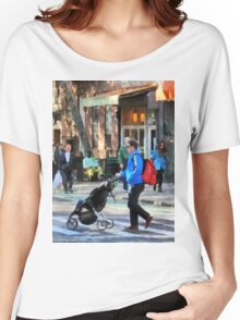 Manhattan NY - Daddy Pushing Stroller Greenwich Village Women's Relaxed Fit T-Shirt