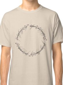 J. R. R. Tolkien - The Lord Of The Rings - Ring Inscriprtion Classic T-Shirt