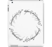 J. R. R. Tolkien - The Lord Of The Rings - Ring Inscriprtion iPad Case/Skin