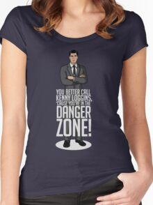 Archer - Cause You're in the Danger Zone! Women's Fitted Scoop T-Shirt