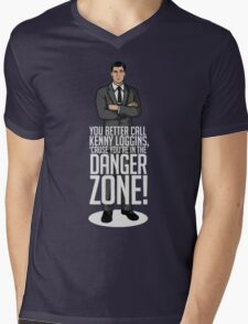 Archer - Cause You're in the Danger Zone! Mens V-Neck T-Shirt