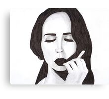 Lana in ink Canvas Print