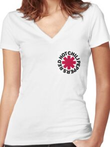 Red Hot Chilli Peppers Women's Fitted V-Neck T-Shirt
