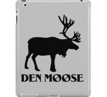 The moose from Scandinavia fun iPad Case/Skin