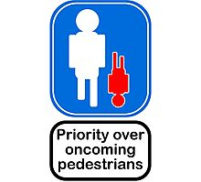 Priority over oncoming pedestrians Photographic Print