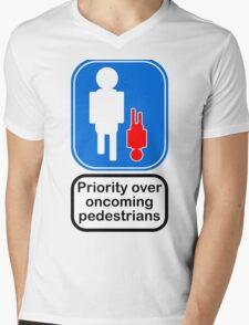 Priority over oncoming pedestrians Mens V-Neck T-Shirt