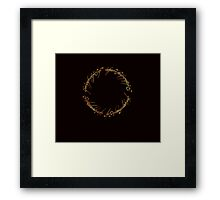 J. R. R. Tolkien - The Lord Of The Rings - Ring Inscriprtion - Flames Framed Print