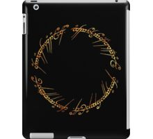 J. R. R. Tolkien - The Lord Of The Rings - Ring Inscriprtion - Flames iPad Case/Skin