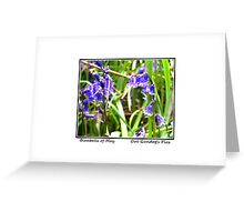 Bluebells of May Greeting Card