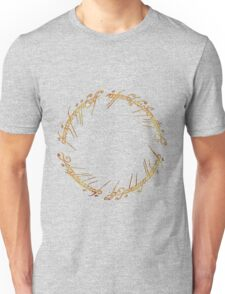 J. R. R. Tolkien - The Lord Of The Rings - Ring Inscriprtion - Flames Unisex T-Shirt