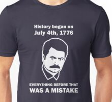 Ron Swanson History July 4 1776 (dark) Unisex T-Shirt