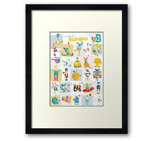 ABC: I can learn the Alphabet - ENGLISH Framed Print