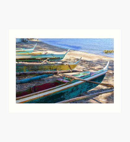 Group of Fishing Palm Boats Art Print