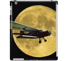 Flying by the moon iPad Case/Skin