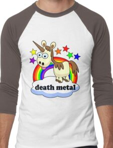 death metal unicorn Men's Baseball ¾ T-Shirt
