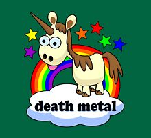 death metal unicorn Womens Fitted T-Shirt