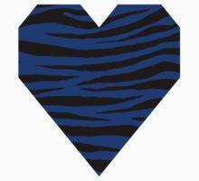0322 International Klein Blue Tiger One Piece - Long Sleeve