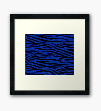 0322 International Klein Blue Tiger Framed Print
