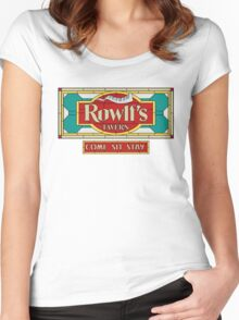 "Rowlf's Tavern ""Come. Sit. Stay."" Women's Fitted Scoop T-Shirt"
