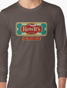 """Rowlf's Tavern """"Come. Sit. Stay."""" Long Sleeve T-Shirt"""