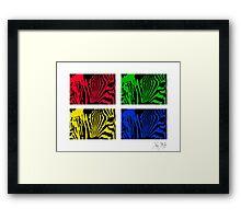 Warholed Zebras Framed Print