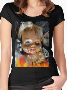 Evil Doll Women's Fitted Scoop T-Shirt