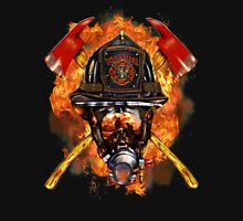 Volunteer firefighter in the fire Unisex T-Shirt