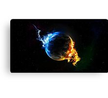 Earth Water Fire Canvas Print