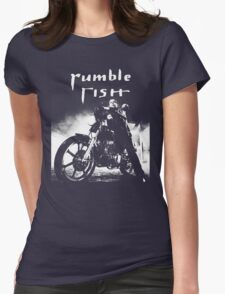 RUMBLE FISH - MICKEY ROURKE Womens Fitted T-Shirt