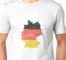 Germany Country Outline in Black, Red and Gold Flag Colors Unisex T-Shirt