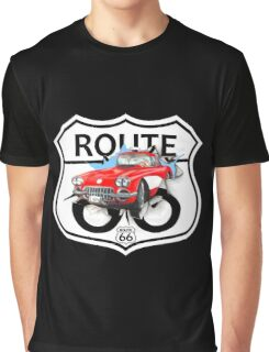 Vintage Route 66 US historic gifts red, white, black Graphic T-Shirt
