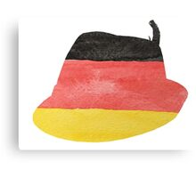 German Hunting Cap in German Flag Water Colors Canvas Print