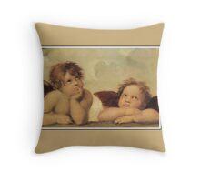Angels (cherubs) dreaming, by Raphael Throw Pillow