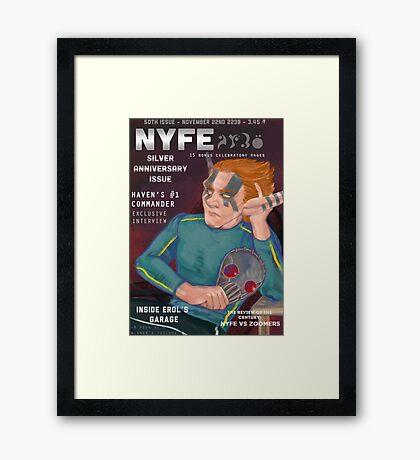 Erol on the cover of NYFE Magazine  Framed Print