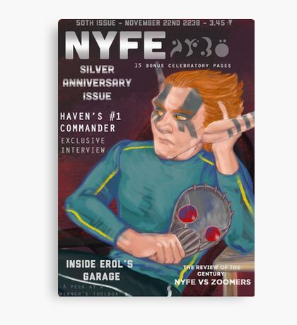 Erol on the cover of NYFE Magazine  Canvas Print