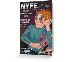 Erol on the cover of NYFE Magazine  Greeting Card