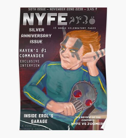 Erol on the cover of NYFE Magazine  Poster