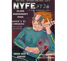 Erol on the cover of NYFE Magazine  Photographic Print