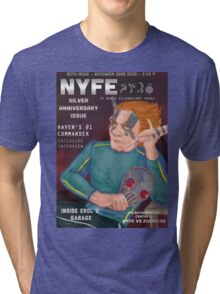 Erol on the cover of NYFE Magazine  Tri-blend T-Shirt