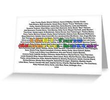 LGBT Fans Deserve Better || Names Greeting Card