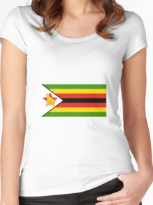Flag of Zimbabwe Women's Fitted Scoop T-Shirt