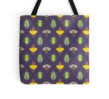 Insecta Geometrica - Geometric Insects Pattern Tote Bag