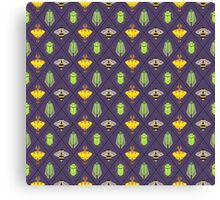 Insecta Geometrica - Geometric Insects Pattern Canvas Print