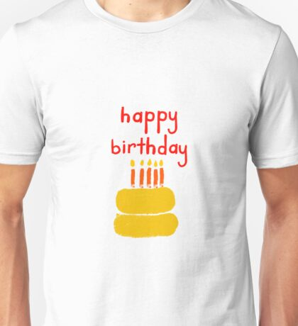Happy Birthday Cake and candles Unisex T-Shirt