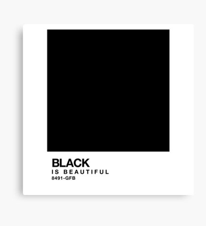 Black is beautiful - Pantone Swatch Canvas Print