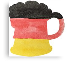 Stein or Mug of Beer in Water Colors of German Flag Canvas Print