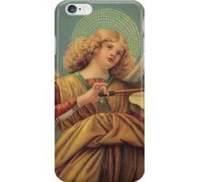 Angel playing the violin, by Melozzo da Forli iPhone Case/Skin