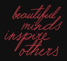 beautiful minds inspire others red on black One Piece - Long Sleeve